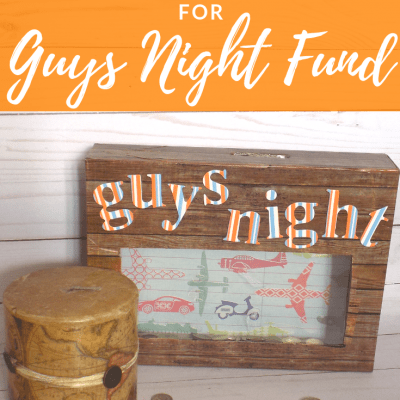 Upcycled DIY Bank for Guys Night Fund