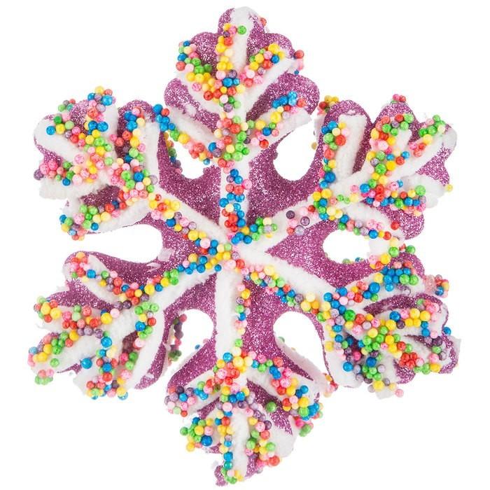 Pink Snowflake Cookie