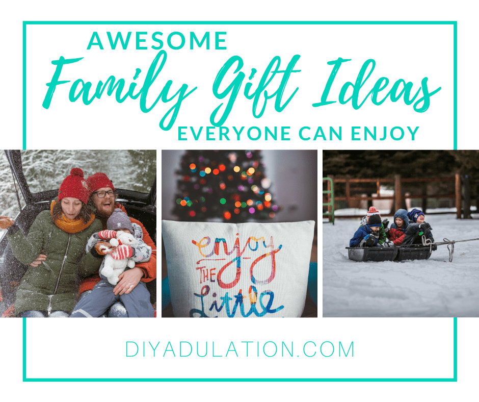 Christmas Photo Collage with text overlay - Awesome Family Gift Ideas Everyone Can Enjoy