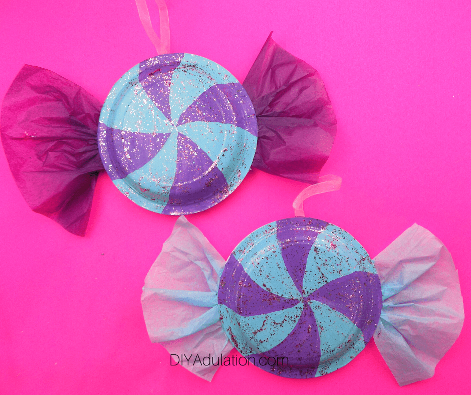 Glittery Painted Candy Ornaments