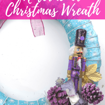 Glittery Pastel Nutcracker Christmas Wreath