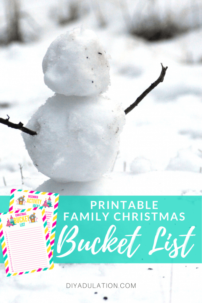 Printable Family Christmas Bucket List