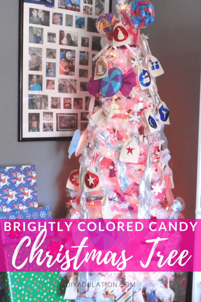 Brightly Colored Candy Christmas Tree