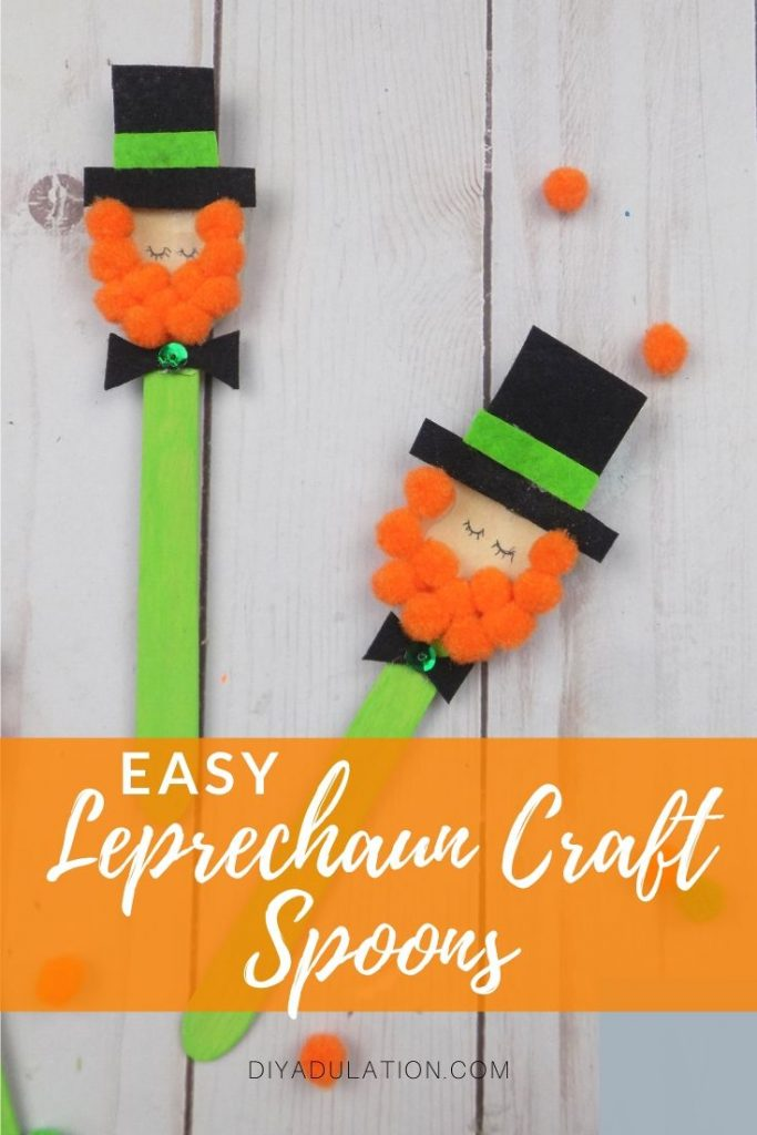 Easy Leprechaun Craft Spoons