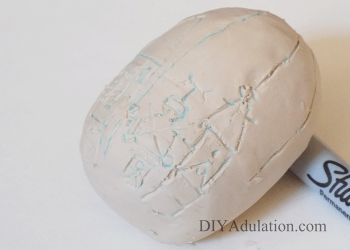 Carve Clay Egg