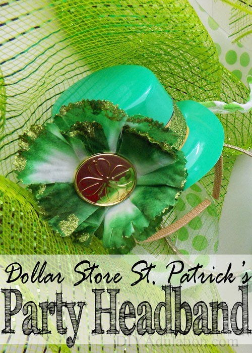 Dollar Store St Pats Party Hats + a Blog Hop