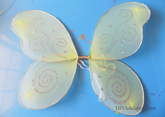 Gold Wire Attached to Wings