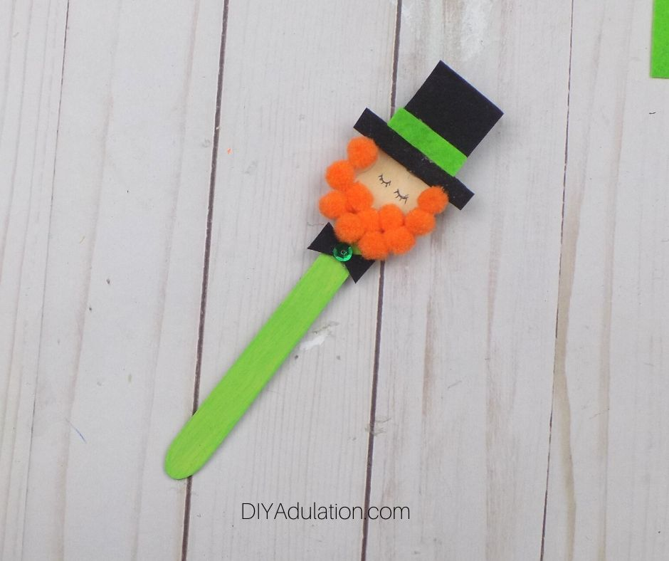Green Sequin Glued to Center of Small Black Felt Bow Tie - DIY Adulation