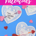 Heart Valentines with text overlay - Easy Heart Arrow Valentines - DIY Adulation