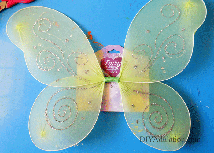 Green Glittery Fairy Wings