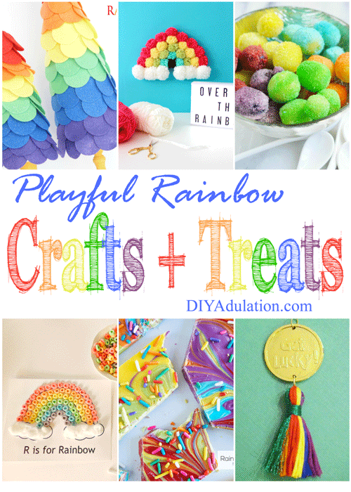 Playful Rainbow Crafts and Treats for Saint Patrick's Day