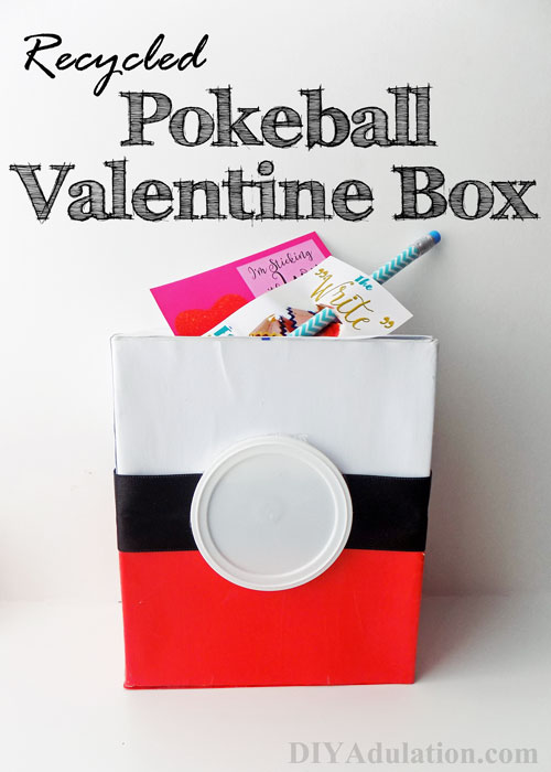 Recycled Pokeball Valentine Box